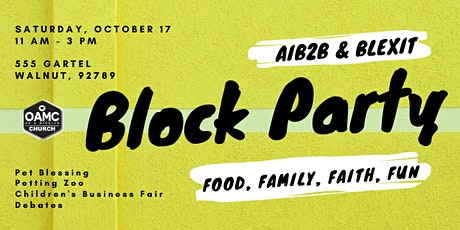 "AIB2B & Blexit ""First Annual Block Party"" at On A Mission Church tickets"