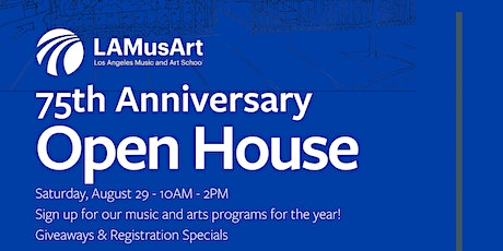 LAMusArt 75th Anniversary: Open House tickets