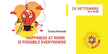 #IWHAW2020 Tavola Rotonda: Happiness is possible Everywhere (in inglese) biglietti