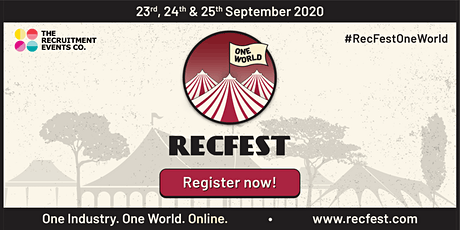 RecFestOneWorld 2020 - One Industry. One World. Online tickets