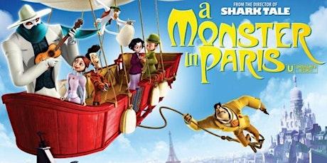 TASSIE POP UP DRIVE IN   A MONSTER IN PARIS (G)   Fri, 7 Aug 2020   6pm tickets