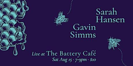 Live Music: Sarah Hansen & Gavin Simms at The Battery Cafe tickets