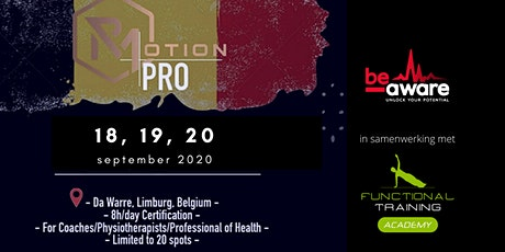 Rmotion PRO Education Belgium tickets