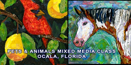 Animal  or Pet Portrait Mixed Media Class tickets