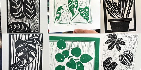 Drawing, Lino cutting and printing of botanicals in a plant shop! tickets