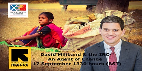 David Miliband & the International Rescue Committee Webinar tickets