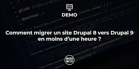Démo : Comment migrer un site Drupal 8 vers Drupal 9 en moins d'une heure ? billets