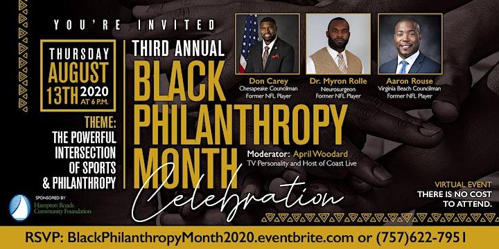 Black Philanthropy Month Celebration 2020 image