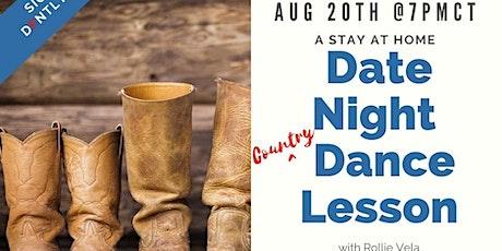 Digital Date Night Dance Lesson -Country with Rollie Vela biglietti