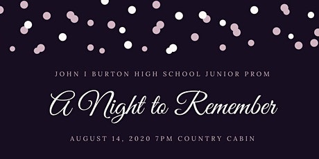 Burton A Night to Remember tickets