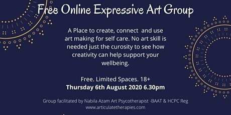 Wellness at Home: Online  Expressive Art Group - Drop in Session tickets