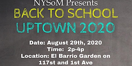 NYSoM Back to School Uptown 2020 tickets