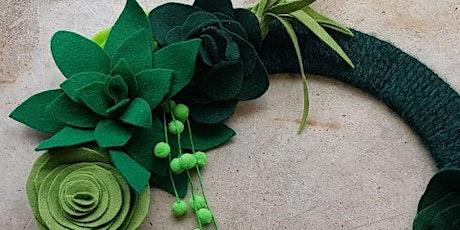 Felt succulent wreath tickets