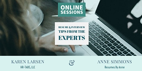 Resume & Interview Tips From the Experts - Online Workshop tickets