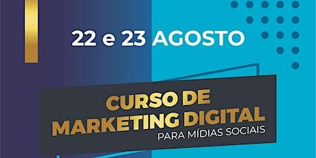 Curso de Marketing Digital para Mídias Sociais ingressos