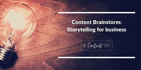 Content Brainstorm: Storytelling for business tickets