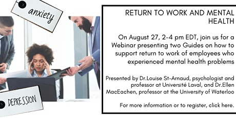 Return to Work and Mental Health tickets