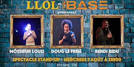 Spectacle Stand-up en français avec Doug le frisé, Môssieur Louis et Bendi billets