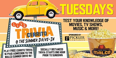 Trivia Nights at the Summer Drive-In tickets