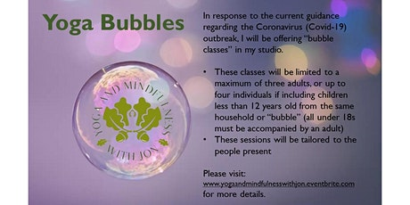Yoga and Mindfulness with Jon session (Bubble) tickets