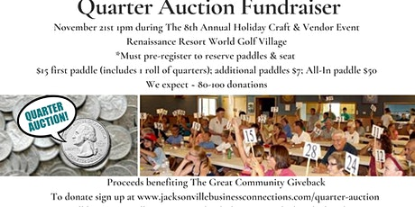 Quarter Auction Fundraiser (In-Person or Virtual Option) tickets