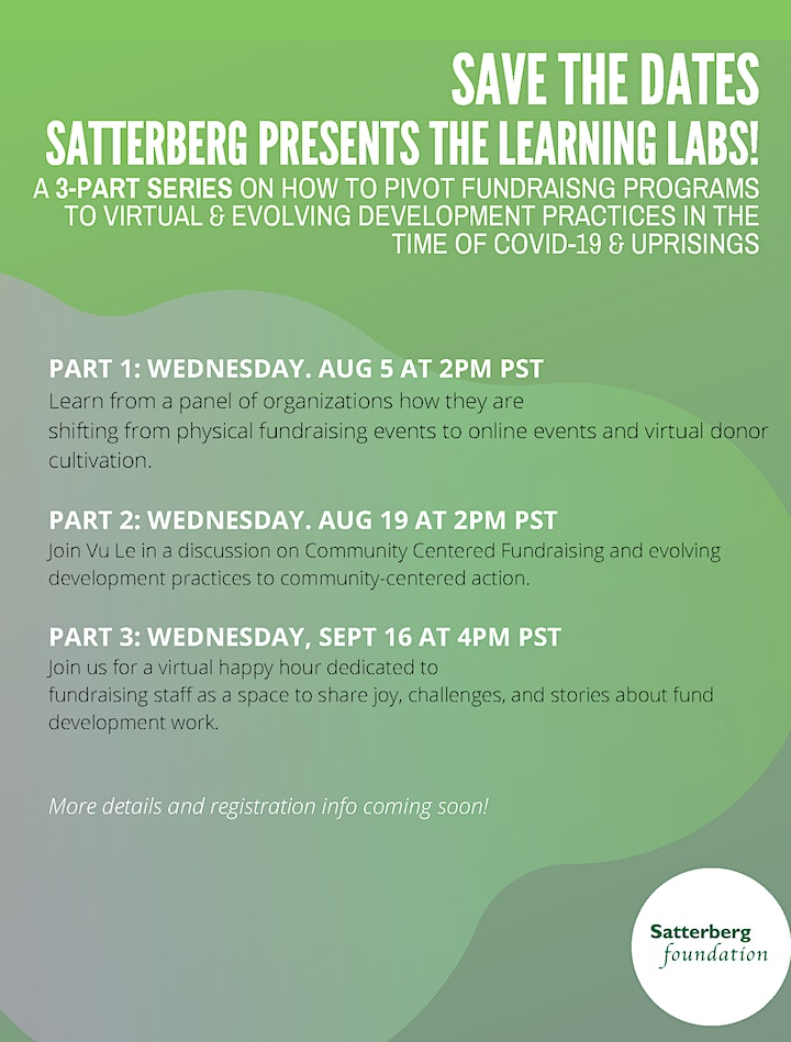 Fundraising Learning Lab: A 3-Part Series on Pivoting Fundraising Programs image