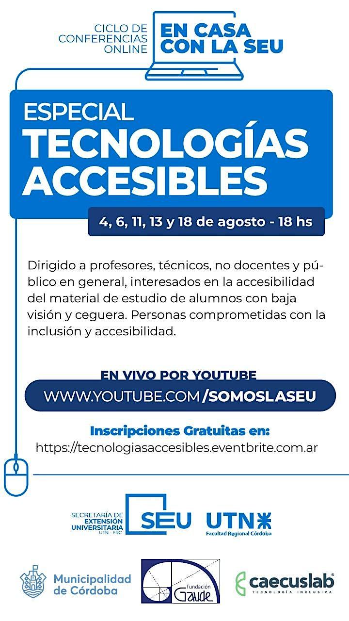 Imagen de EN CASA CON LA SEU - ESPECIAL TECNOLOGÍAS ACCESIBLES