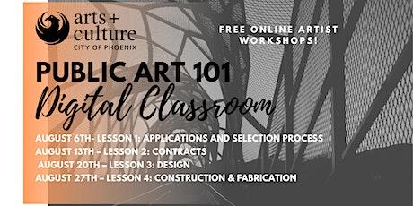 Public Art 101 Digital Classroom tickets