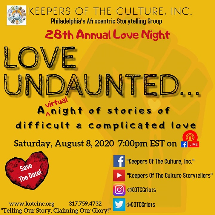 Love Night 2020 Love Undaunted: Stories of Difficult & Complicated Love image