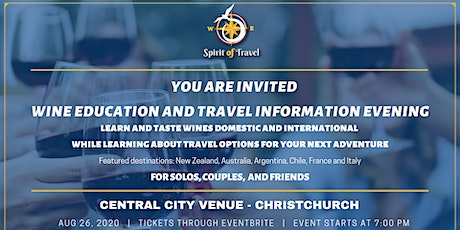 Wine Education and Travel Information evening (18+) tickets