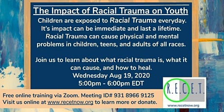 The Impact of Racial Trauma on Youth Online Workshop tickets
