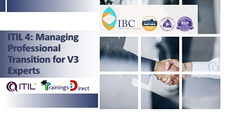 ITIL Managing Professional Transition- Remote class (CST time zone) tickets