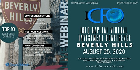Live Web Event: The iCFO Virtual Investor Conference - Beverly Hills, CA tickets