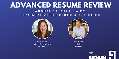 Advanced Resume Review: Optimize Your Resume and Get Hired with Ursus tickets