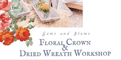 Floral Crown & Dried Wreath Workshop tickets