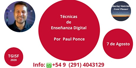 "TGISF ""Técnicas de Enseñanza Digital"" Por  Paul Ponce - Sharing Materials entradas"