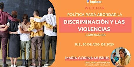 Política para abordar la  discriminación y las violencias laborales boletos