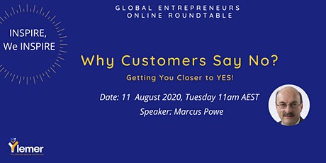 """Inspire, We Inspire"" Online Roundtable: Why Customers Say No? tickets"