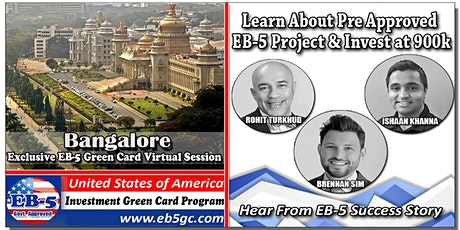Bangalore  EB-5 American Green Card Virtual Market Series tickets