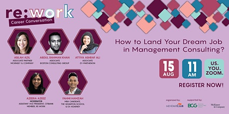 Re:Work Career Conversation (Management Consulting) tickets