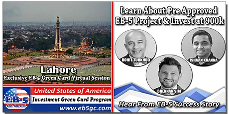 Lahore  EB-5 American Green Card Virtual Market Series tickets