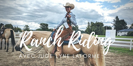 CLASSE DE RANCH RIDING VIRTUEL avec Juge Lyne La forme billets