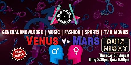 Quiz Night - Mars vs Venus tickets