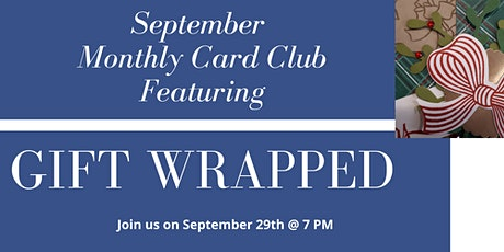 Online Monthly Card Club 2020 - Gift Wrapped tickets