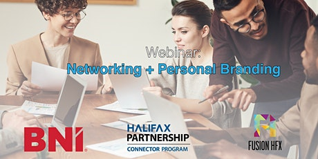 Networking & Personal Branding Webinar with BNI & the Halifax Partnership tickets