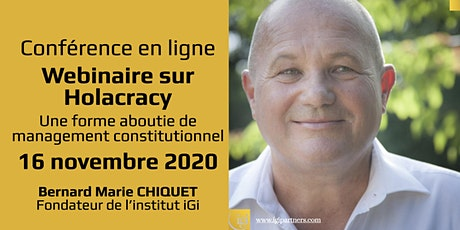 Webinaire sur Holacracy : une forme aboutie de management constitutionnel billets