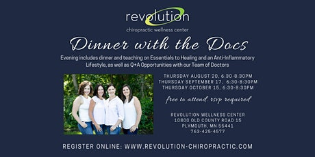 Dinner with the Docs | August 20 tickets