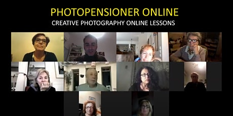 Photo pensioner: A virtual creative photography class  for 50+ tickets