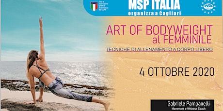 """CORSO MSP ITALIA """"ALLENAMENTO A CORPO LIBERO AL FEMMINILE"""" -CAGLIARI biglietti"""