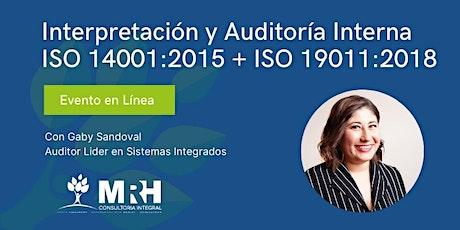 Curso: Interpretación y Auditoría Interna  de ISO 14001:2015 entradas